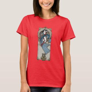 ワンダーウーマンのアールヌーボーのパネル Tシャツ
