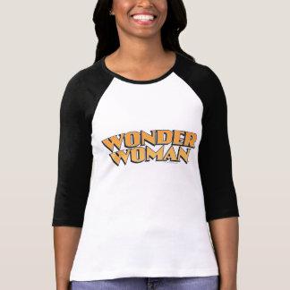 ワンダーウーマンのオレンジのロゴ Tシャツ