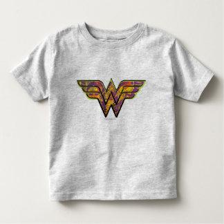 ワンダーウーマンのカラフルのロゴ トドラーTシャツ