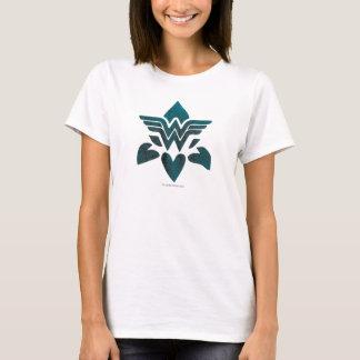 ワンダーウーマンのグランジなロゴ Tシャツ