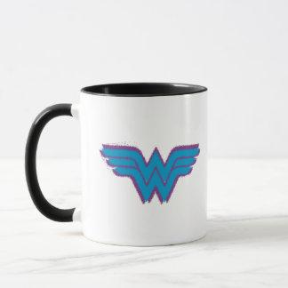 ワンダーウーマンのスプレー式塗料のロゴ マグカップ