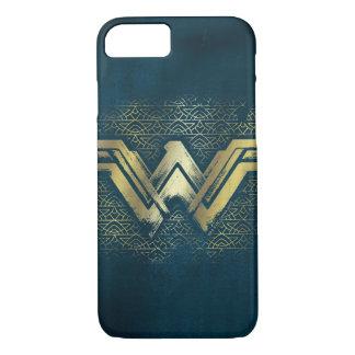 ワンダーウーマンのブラシをかけられた金ゴールドの記号 iPhone 8/7ケース