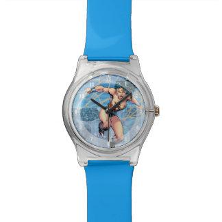 ワンダーウーマンの三位一体の喜劇的なカバー#16 腕時計