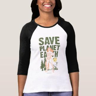 ワンダーウーマンの保存の惑星の地球 Tシャツ
