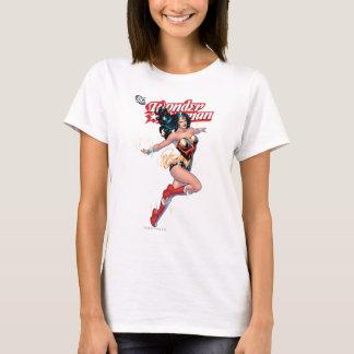 ワンダーウーマンの喜劇的なカバー Tシャツ