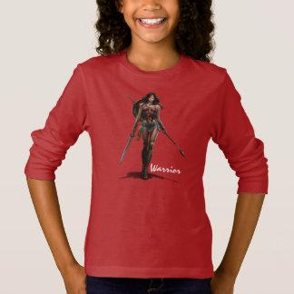 ワンダーウーマンの戦い準備ができた喜劇的な芸術 Tシャツ