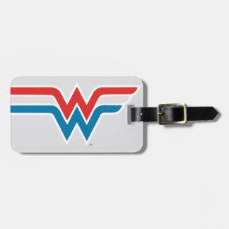 ワンダーウーマンの赤く白くおよび青のロゴ ラゲッジタグ