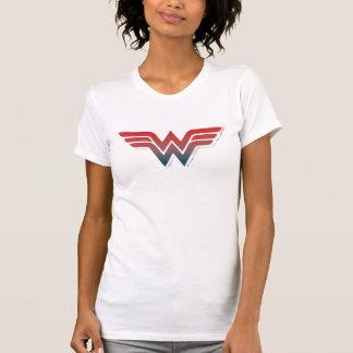 ワンダーウーマンの赤く青い勾配のロゴ Tシャツ