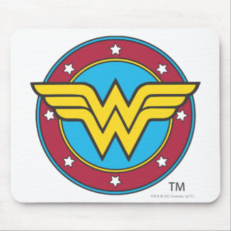 ワンダーウーマン|の円及び星のロゴ マウスパッド