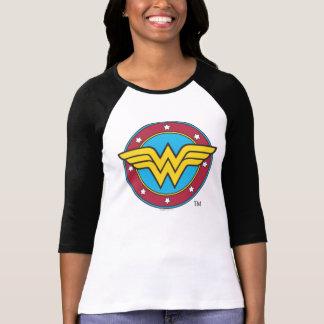 ワンダーウーマン|の円及び星のロゴ Tシャツ