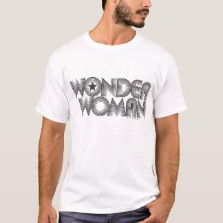 ワンダーウーマンB&Wのロゴ3 Tシャツ