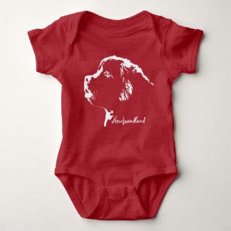 ワンピース赤ん坊のニューファウンドランド犬のボディスーツの赤ん坊犬 ベビーボディスーツ