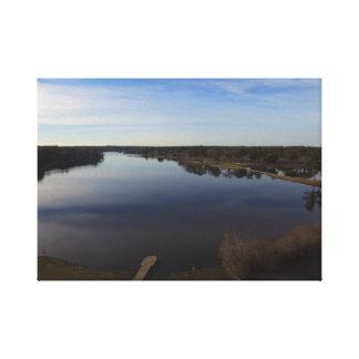 ワーナーのロビンの湖の喜びの無人機の写真 キャンバスプリント