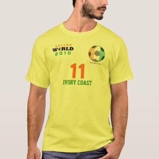ワールドカップの象牙海岸#11 DrogbaのTシャツ Tシャツ