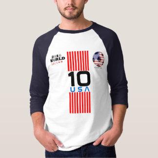 ワールドカップ米国#10 DonovanのTシャツ両側 Tシャツ