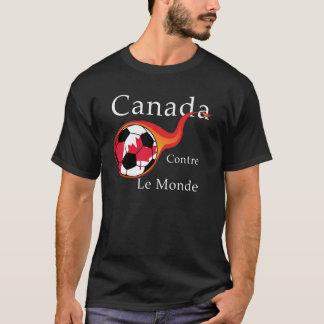 ワールドカップ-カナダ対。 世界 Tシャツ