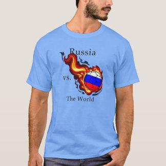 ワールドカップ-ロシア対。 世界 Tシャツ