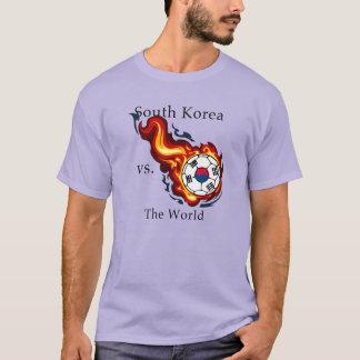 ワールドカップ-南朝鮮対。 世界 Tシャツ