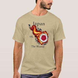 ワールドカップ-日本対。 世界 Tシャツ