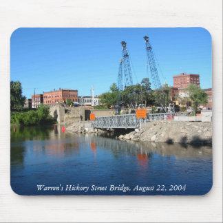 ワーレンのヒッコリーSt.の架橋工事のマウスパッド マウスパッド