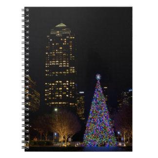 ワーレン公園夜のクリスマス ノートブック