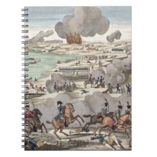 ヴァグラムの戦い、1809年7月6日(版木、銅版、版画) ノートブック