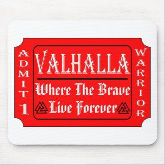 ヴァルハラは勇敢の住むかもしれない1人の戦士を是認します マウスパッド