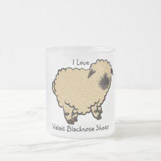 ヴァレー州Blacknoseのヒツジ、私は愛します フロストグラスマグカップ