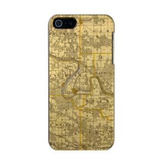 ヴァンブレン郡、アイオワ州の地図 メタリックiPhone SE/5/5sケース