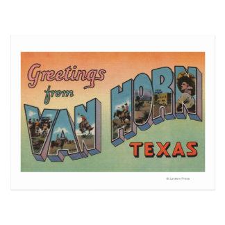 ヴァンHorn、テキサス州-大きい手紙場面 ポストカード