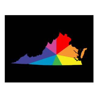 ヴァージニアのカラー・バースト ポストカード