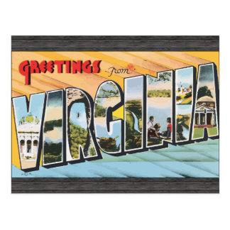 ヴァージニアのヴィンテージからの挨拶 ポストカード