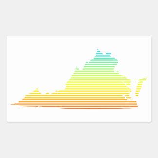 ヴァージニアの冷えは衰退します 長方形シール