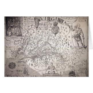 ヴァージニアの地図1612年 カード