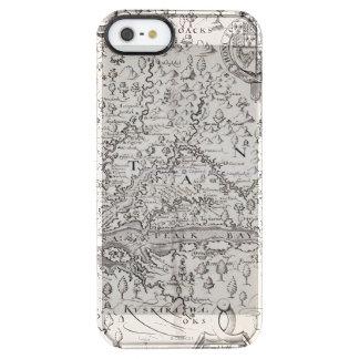 ヴァージニアの地図1612年 クリア iPhone SE/5/5sケース