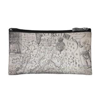 ヴァージニアの地図1612年 コスメティックバッグ