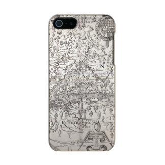ヴァージニアの地図1612年 メタリックiPhone SE/5/5sケース