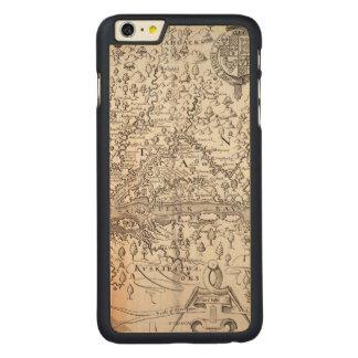 ヴァージニアの地図1612年 CarvedメープルiPhone 6 PLUS スリムケース