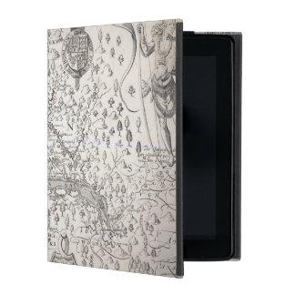 ヴァージニアの地図1612年 iPad ケース
