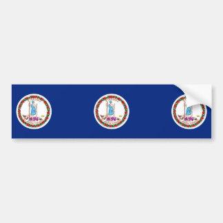 ヴァージニアの州の旗のデザイン バンパーステッカー