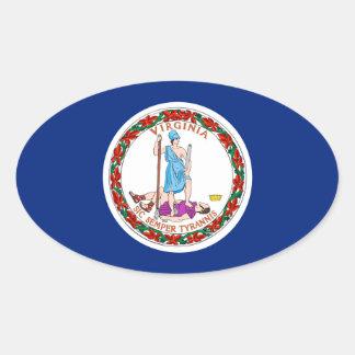 ヴァージニアの州の旗のデザイン 楕円形シール