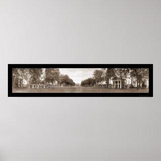 ヴァージニアの巨大な写真1911年の芝生大学 ポスター