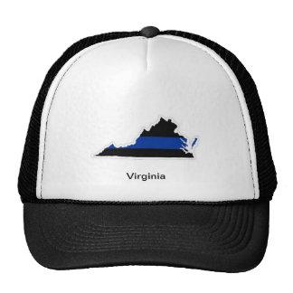 ヴァージニアの薄いブルーライントラック運転手の帽子 トラッカー帽子