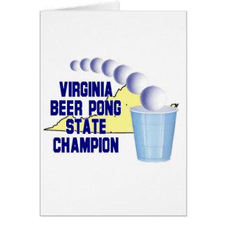 ヴァージニアビールPongのチャンピオン カード