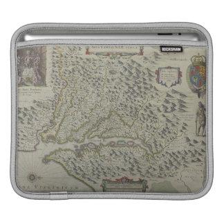 ヴァージニア、米国の山の地図 iPadスリーブ