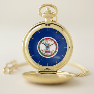 ヴァージニア、米国の愛国心が強い壊中時計の旗 ポケットウォッチ