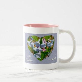 ヴァージニアBluebellsの妻の誕生日によって調整される項目 ツートーンマグカップ