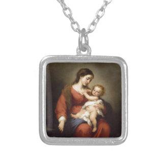 ヴァージンおよびキリストの子供 シルバープレートネックレス