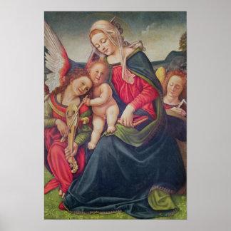 ヴァージンおよび子供および天使のミュージシャン ポスター