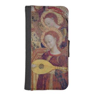 ヴァージンおよび子供の絵画からの天使のミュージシャン iPhoneSE/5/5sウォレットケース